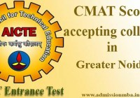 CMAT Score accepting colleges in Greater Noida
