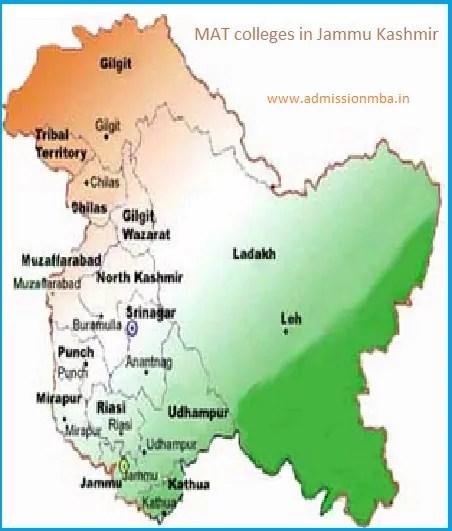 MAT colleges in Jammu Kashmir