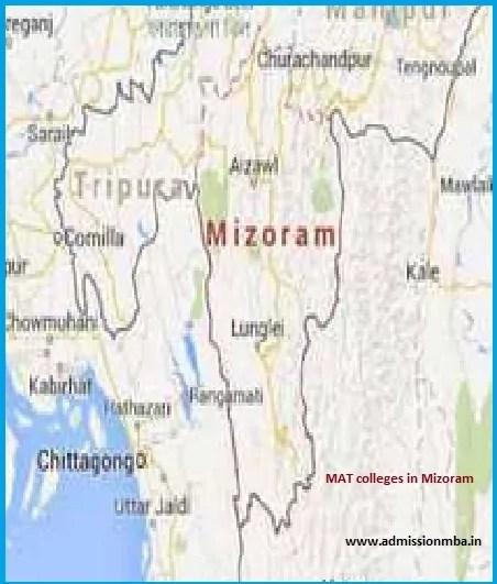 MBA Colleges Accepting MAT score in Mizoram