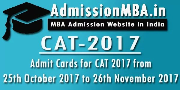 CAT-2017 CAT Entrance Exam Admit Card Hall Ticket 2017