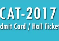 Hall Ticket CAT 2017