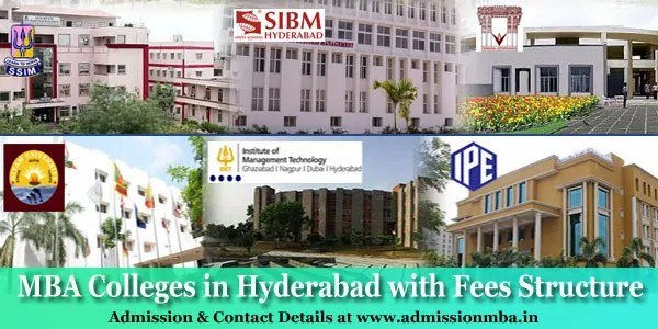 MBA Colleges in Hyderabad with Fees Structure