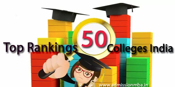 Top 50 Rank MBA colleges INDIA