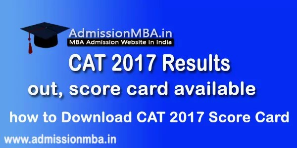 CAT 2017 Results Score Card Download