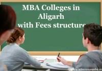 MBA fees in Aligarh, Uttar pradesh