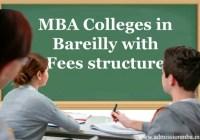 MBA fees in Bareilly, Uttar pradesh