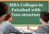 MBA fees in Faizabad, uttar Pradesh