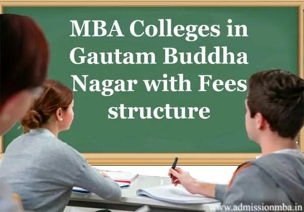 MBA Colleges in Gautam Buddha Nagar Fees Structure