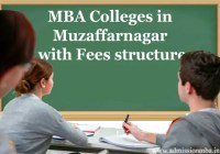 MBA fees in Muzaffarnagar