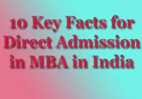 Direct Admission in MBA in india Key Facts