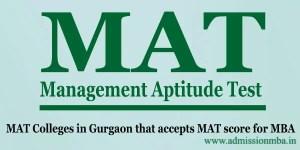 MAT Colleges in Gurgaon