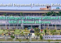 MBA Colleges in Haryana affiliated MDU Rohtak