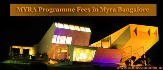 MYRA Programme Fees in MYRA Mysore
