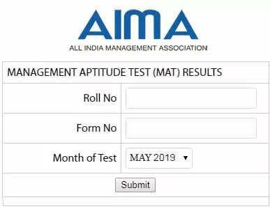 MAT Result May 2019