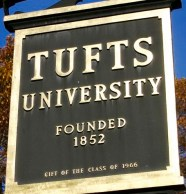 Tufts sign square