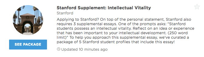 stanford intellectual vitality essay that worked Application: stanford supplement pseudonyms used stanford supplement, john smith, electrical engineering and computer science/english literature, mit 2014 acceptances with these essay(s): stanford, harvard (adapted intellectual vitality.