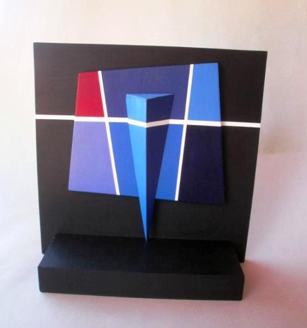 Una de las obras que forma parte de la muestra de Gustavo Rodríguez Jara. (IPParaguay)