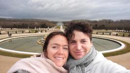 Versailles garden selfie