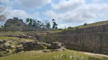 Wall of Belize ruins