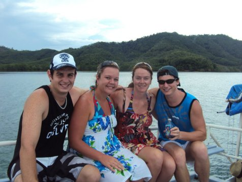 With Aaron & Fiona in Thailand