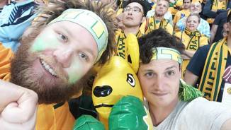 Adam & Scott at Socceroos