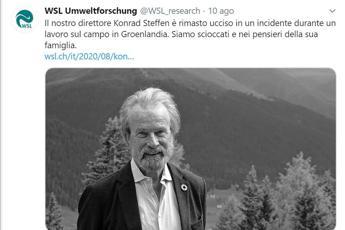 Morto scienziato Konrad Steffen, caduto in crepaccio in Groenlandia