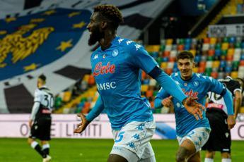 Bakayoko affonda l'Udinese, il Napoli vince 2-1