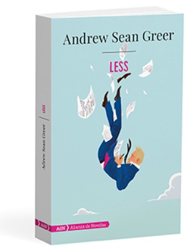 "Portada de ""Less"", de Andrew Sean Greer (editorial Adn)."