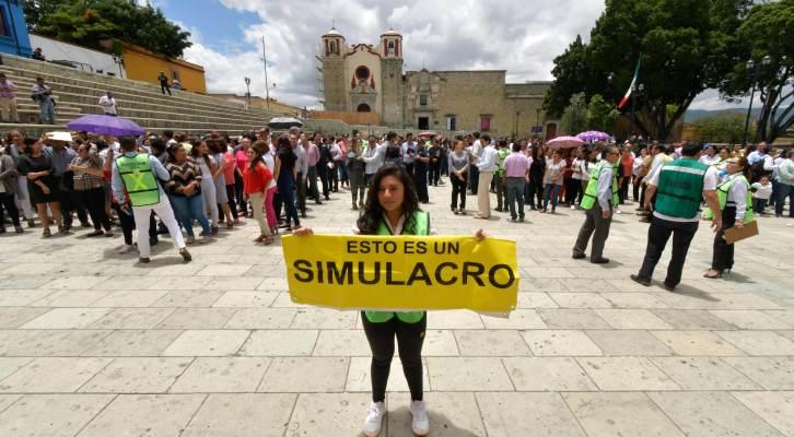 Refuerza Gobierno capitalino cultura de prevención con simulacro de sismo (20:30 h)