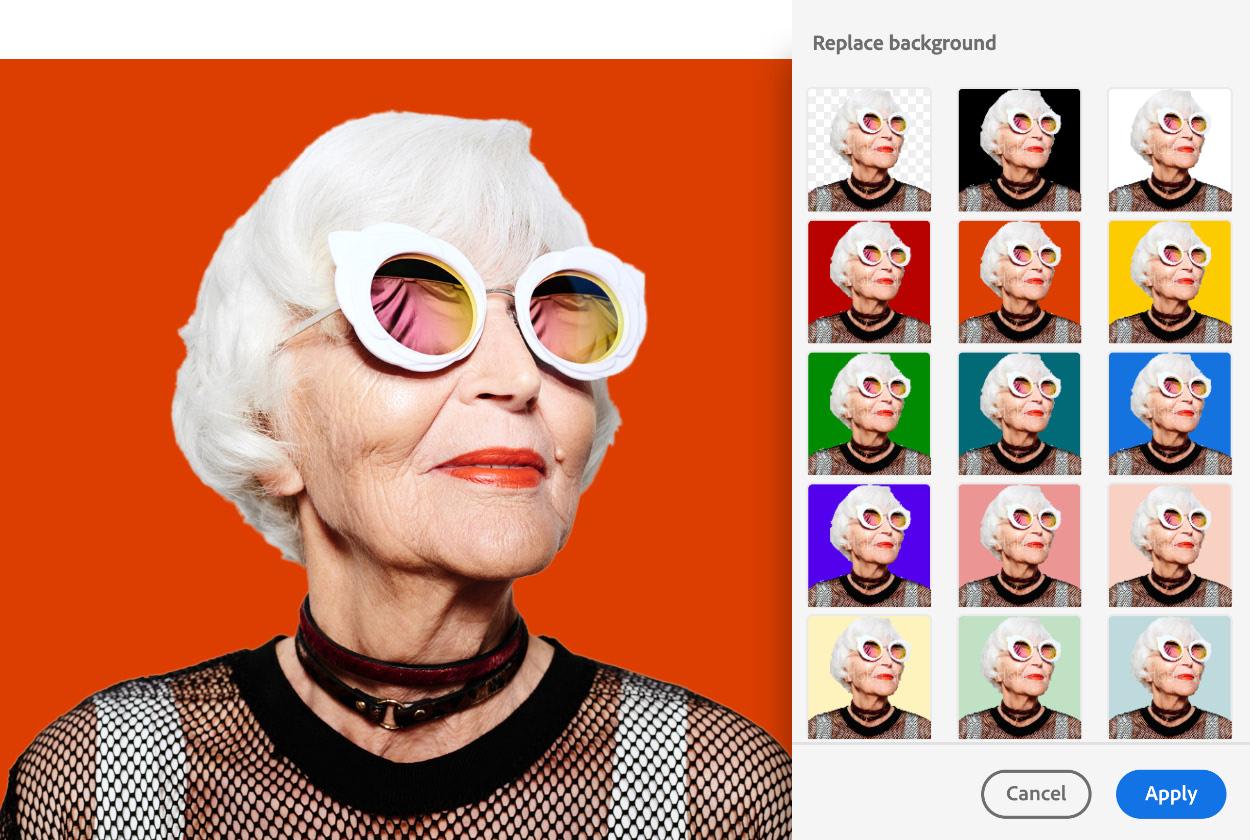 Adobe Photoshop Express: Con esta herramienta gratis, lograremos, de forma fácil, quitar fondos de las imágenes que queramos publicar en nuestras redes sociales.