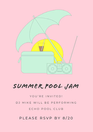 Find birthday invitation themes, and ideas for making your own invitations. Free Pool Party Invitations Templates Adobe Spark