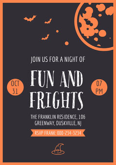 free customizable halloween party