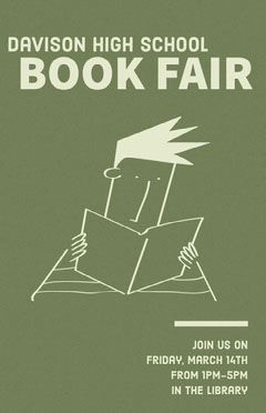 free customizable book fair poster