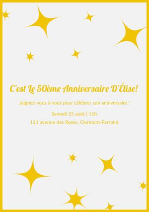 une invitation d anniversaire gratuite