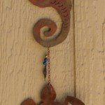 sea horse and turtle wind chime