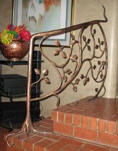 Stair rail, steel