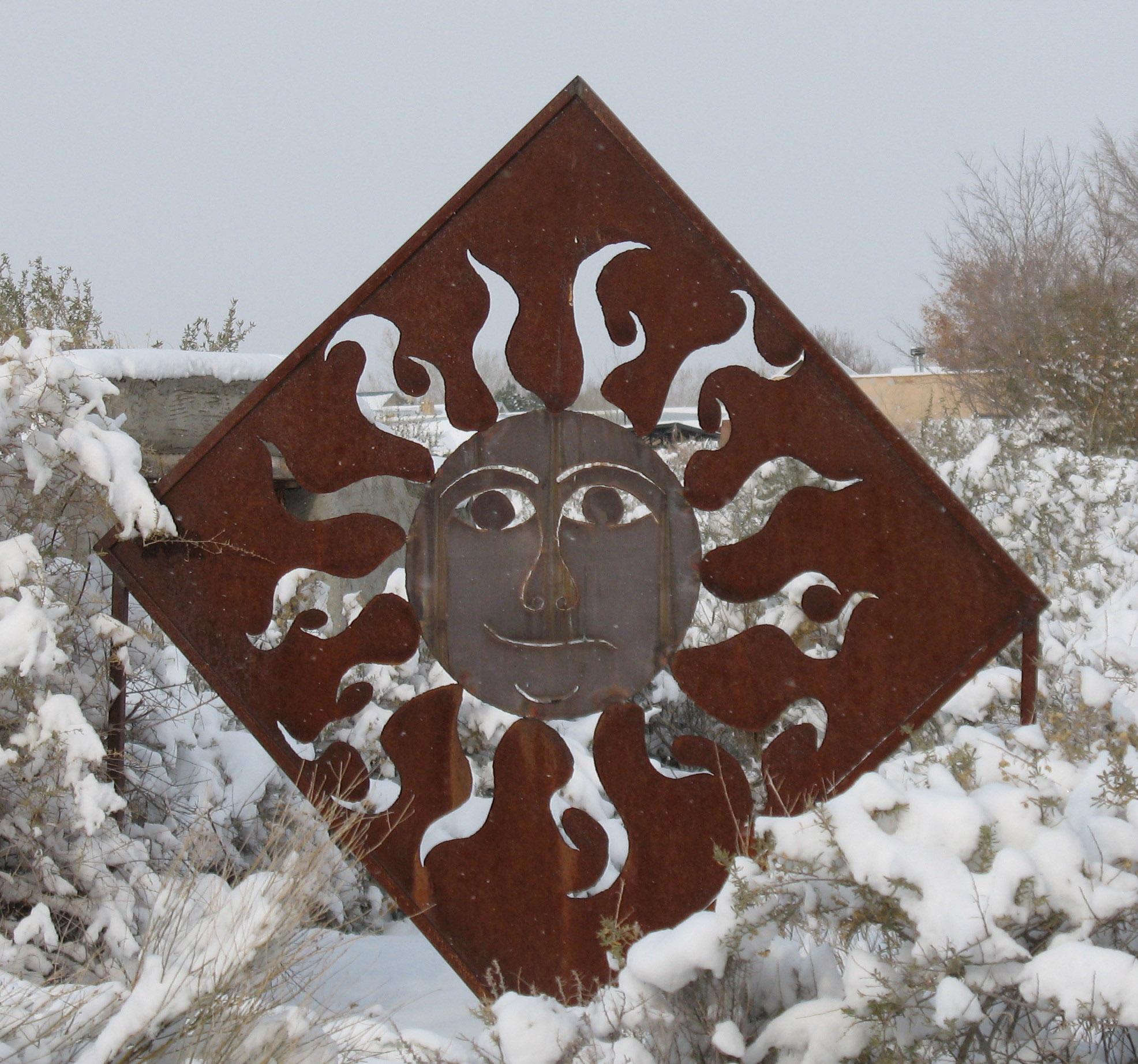 sun in the snow