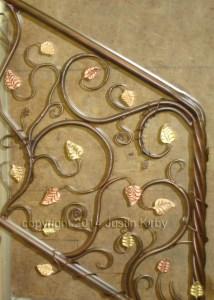 Forged stair rail