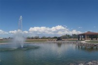 Blue Skies over the Adobe Falls pond