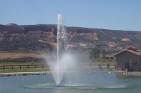 Adobe Falls fountain & CO Ntl Monument