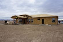 large covered patio on hew home in fruita