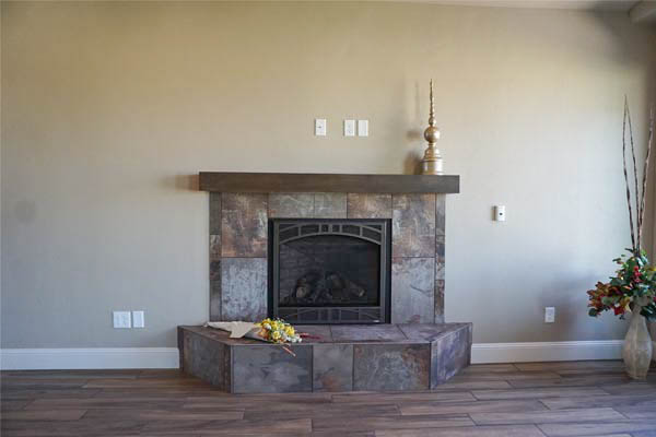 fireplace in 1327 eagle way