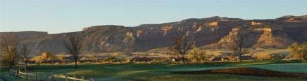 Adobe Falls from golf course looking towards colorado national monument