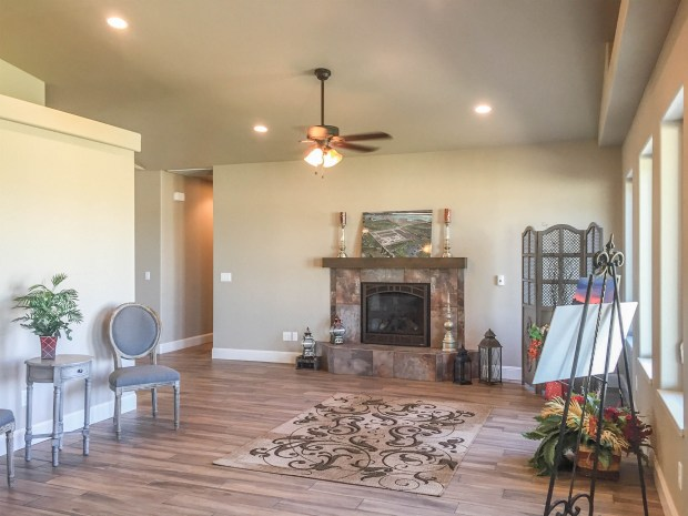 Living Room of 1327 Eagle Way - new construction in fruita colorado