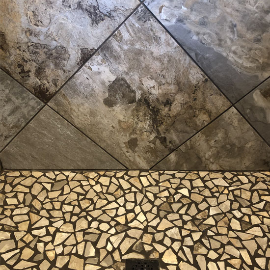 custom tile in shower