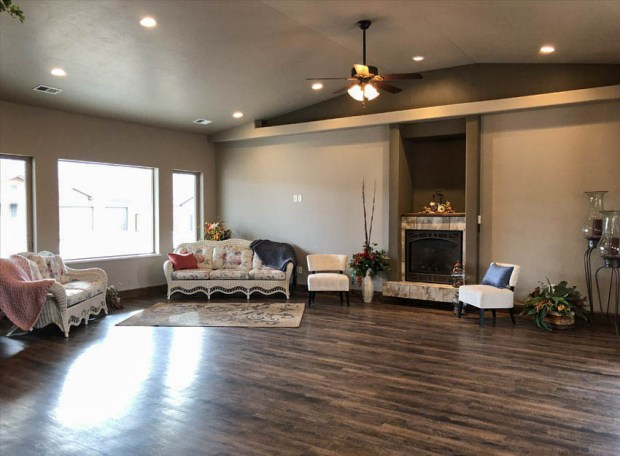 1401 Niblick Living Room with fireplace