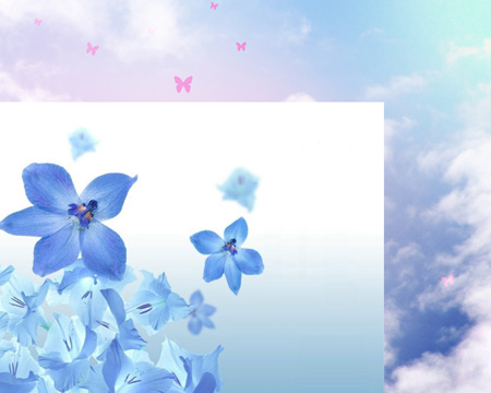 Create Flower Desktop Wallpaper in Photoshop CS3