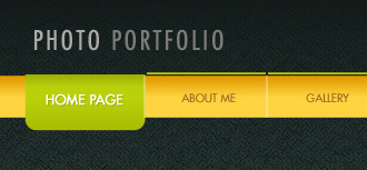 Create Photo Portfolio Web Page Layout in Photoshop CS3