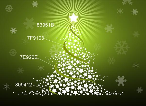 Feliz projeto da árvore de Natal no Photoshop CS3
