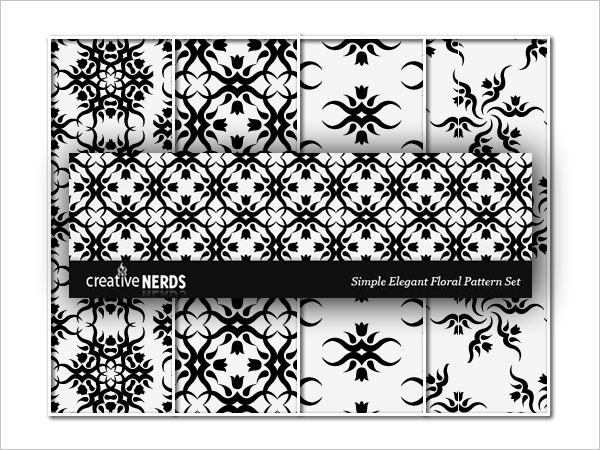 Simple But Elegant Floral Photoshop Pattern Set